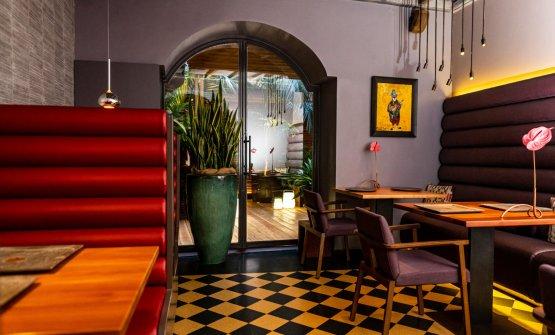 La sala del ristorante Il Pagliaccio