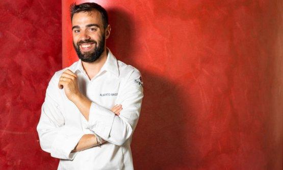 Lo chef Alberto Basso, patron di 3Quarti