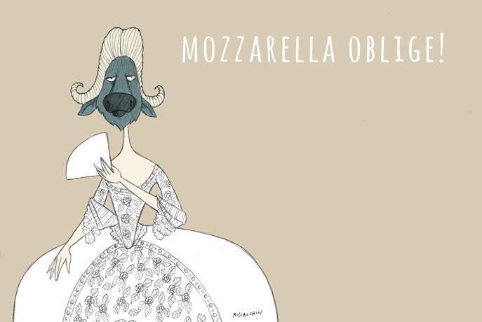 Luned� e marted� prossimi si terr� l'ottava edizione de Le Strade della Mozzarella, la kermesse che raduna ogni anno grandi cuochi italiani e stranieri a celebrare una protagonista indiscussa, la mozzarella di bufala campana. Nella foto, il manifesto de Le Strade, firmato Gianluca Biscalchin