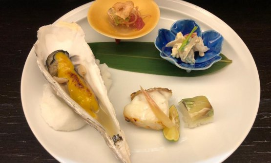 Alcuni dei piatti del menu diASAI