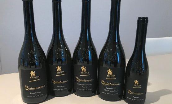 I cinque vini della linea Quintessenz
