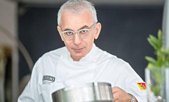 Lo chef Pasquale Caliri del Marina del Nettuno Yac