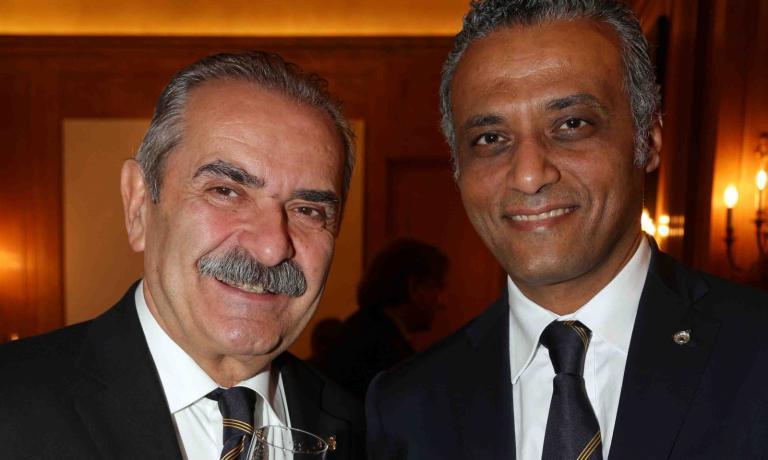 Hosam Eldin con Fiorenzo Detti, presidente Ais Lombardia
