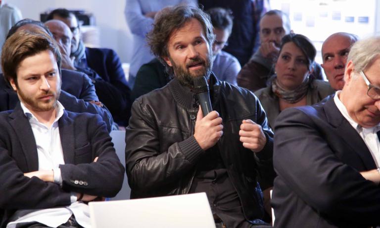 L'intervento di Carlo Cracco. Alle sue spalle si notaSonia Re in rappresentanza di Apci (www.cucinaprofessionale.com). FotoCanio Romaniello
