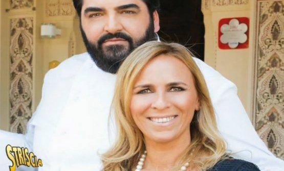 Antonino Cannavacciuolo e sua moglie Cinzia Primatesta
