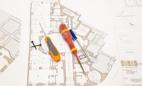 La planimetria del nuovo spazio di Identità Golose Milano, in via Romagnosi al numero 3