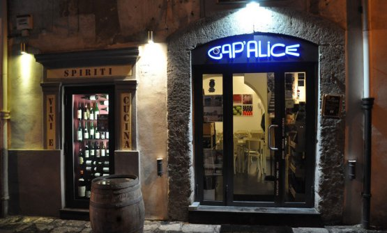L'ingresso diCap'alice,via Bausan28m,Napoli,+39.081.19168992