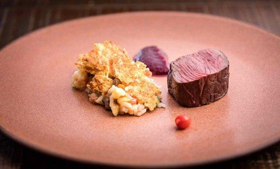 Baião de dois, carne di manzo stagionata al sale, cipolle rosse