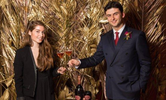 Caroline Fiot, winemaker di Ruinart e Andrea Pasqua, senior brand manager