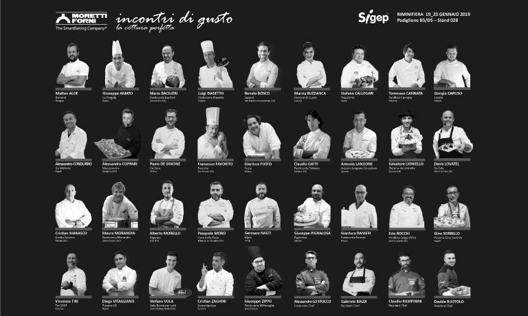 Alcuni dei protagonisti allo stand Moretti Forni al Sigep di Rimini