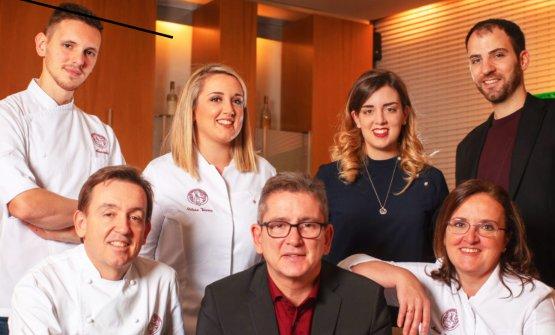 La squadra di Casa Vicina, ristorante con stella M