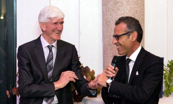 Casimiro Maule, enologo della Nino Negri dal 1971, e Corrado Casoli,presidente di Giv
