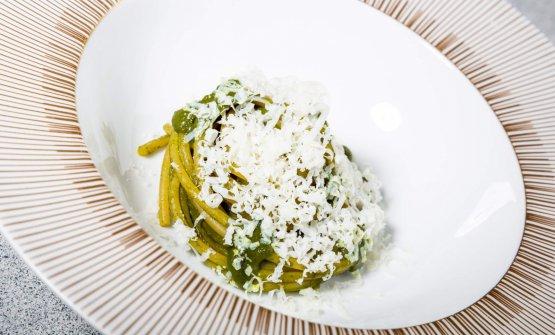 Spaghettone Monograno Felicetti, borragine, ricotta e menta