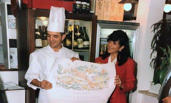 Mauro e Catia Uliassi in una foto degli inizi