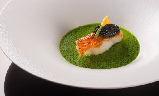 Caviar and fish