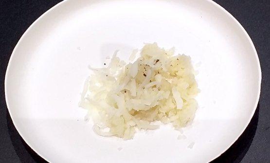 Cavolfiore, siero di latte, melone bianco sciroppato e Pecorino Sardo dolce Dop