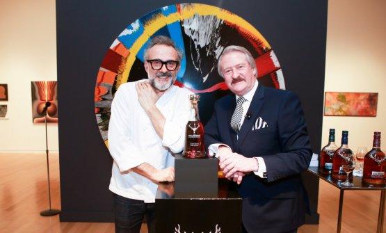 Massimo Bottura e Richard Paterson (fotoSotheby's)