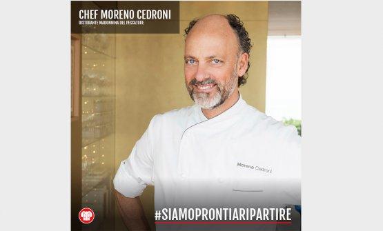 Tra i primi sostenitori della campagna di Berto's, Moreno Cedroni, chef de La Madonnina del Pescatore di Senigallia (Ancona), 2 stelle Michelin
