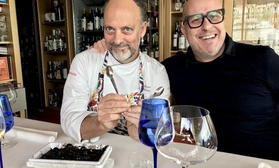 Moreno Cedroni e Paolo Brunelli in attesa del pran