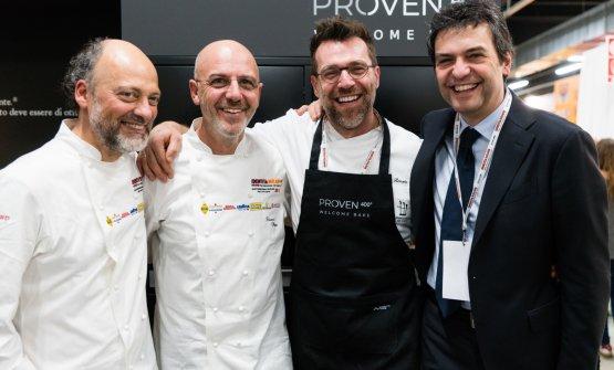 Mario Moretticon Moreno Cedroni, Franco Pepe e Renato Bosco