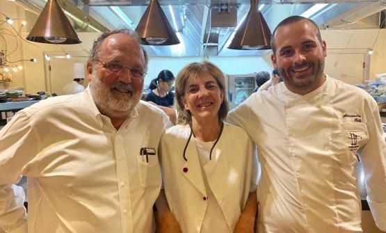 Paolo Marchi con Anna Ghisolfi e Alessandro Billi