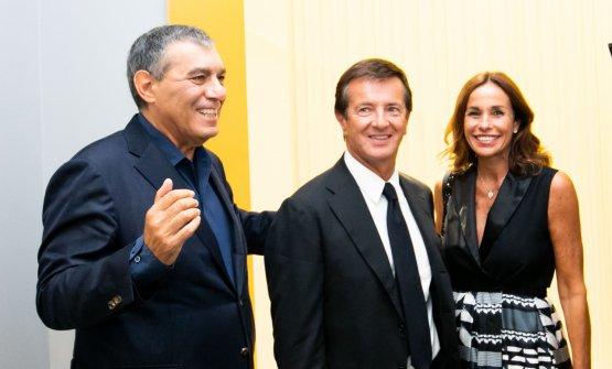 Claudio Ceroni con Giorgio Gori e Cristina Parodi