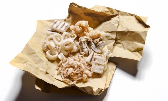 Il Fritto di alici, gamberetti, calamari e scampi