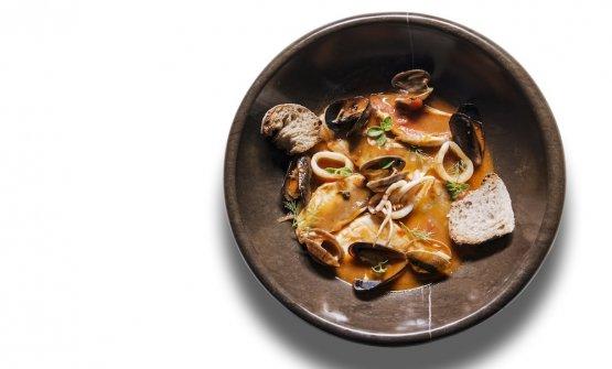 Zuppa di pesci e molluschi della Laguna