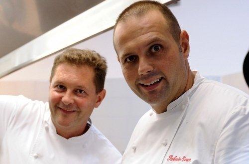 Chicco e Bobo Cerea, anima della cucina del ristorante di famiglia, Da Vittorio, a Brusaporto (Bergamo)