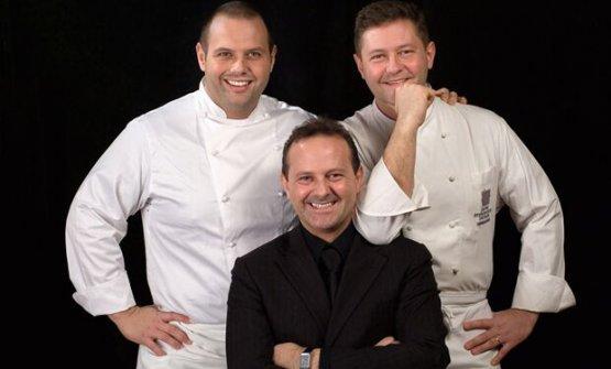 I tre fratelliBobo, Francesco e Chicco Cerea