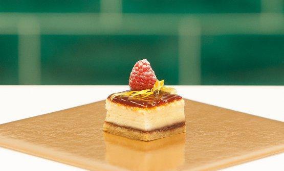 Cheesecake alla confettura di lamponi