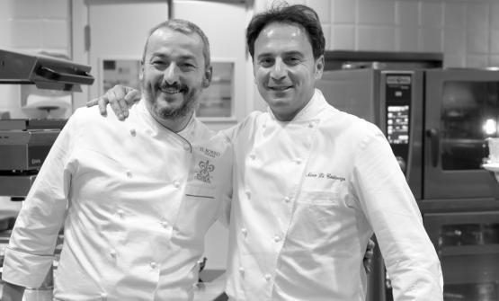 Andrea Campani, a sinistra, assieme a Nino di Costanzo per l'evento organizzato da Il Borro