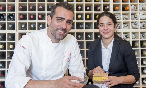 Giuseppe Geraci, chef, eAlessandra Quattrocchi, sommelier, fanno coppia anche nella vita