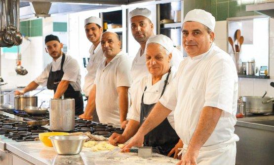 Chef e brigata de Lapprodo