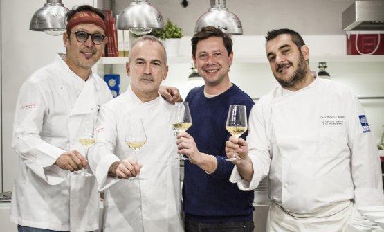 Felix Lo Basso, Roberto Okabe ed Elio Sironi, brindisi finale dopo tanto tartufo