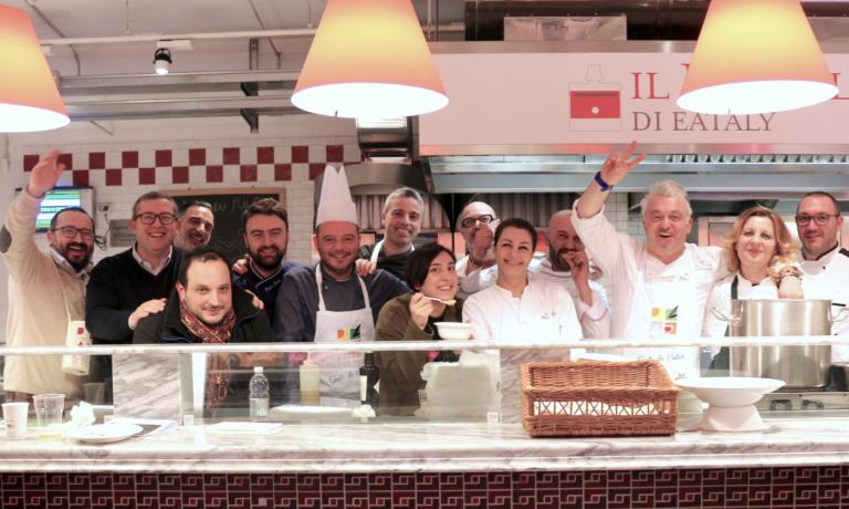 Alcuni degli chef protagonisti del Buona Puglia Fo