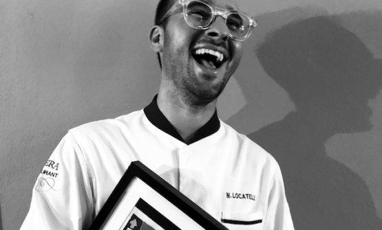 Lo chef Nicola Locatelli, patron di Opera Restaurant