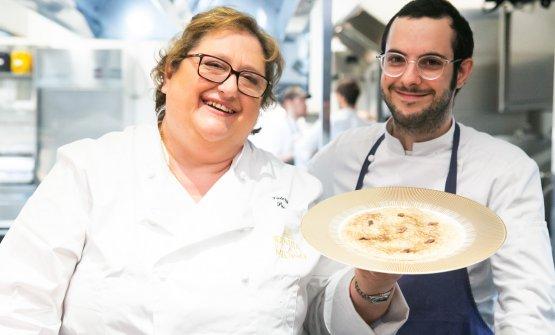 La chef Valeria Piccini col suo sous chefGuglielmo Chiarapini
