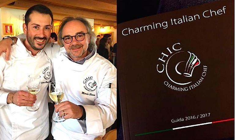 Marco Sacco, chef-patron del Piccolo Lago a Verbania, con Andrea Bertarini del Conca Bella di Vacallo nel Cantion Ticino