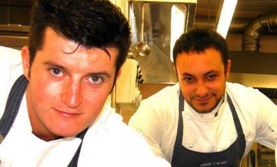 Juri Chiotti e Diego Rossi ai tempi in cui lavoravano assieme al Delle Antiche Contrade, Cuneo (foto altissimoceto.it)