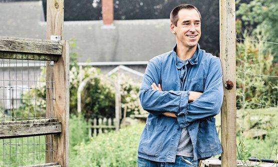 Chris Fischer, 37 anni, cuoco, contadino e autore.