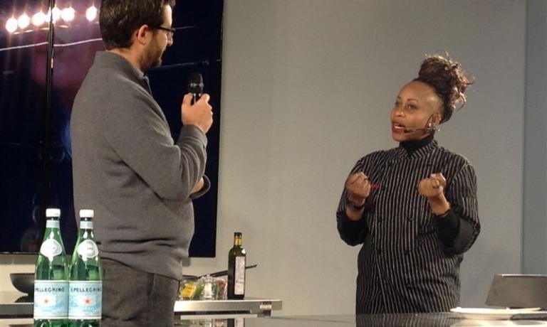 Victoire durante la sua recente partecipazione alla rassegna di chef internazionali a Milano organizzata da Identità Golose a ExpoGate