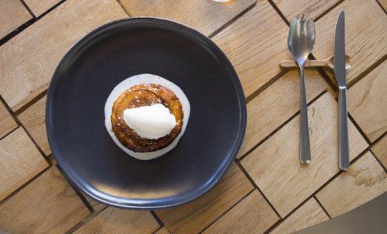 La Cipolla caramellata con gelato al Grana Padano, foto SowineSofood