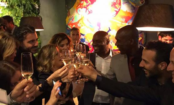 Clarence Seedorf all'inaugurazione