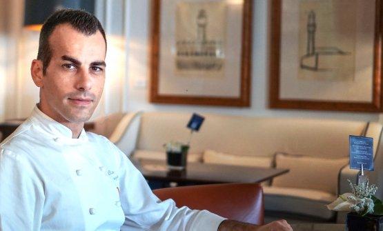 Lo chef Claudio Mengoni nella foto di Luca Managli