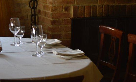 Un particolare del ristorante La Coccinella