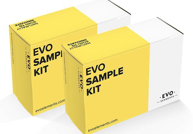 Il sample kit di Evo Elements, uno dei prodotti in vendita sul sito della start-up dedicata ai professionisti della cucina e della pasticceria