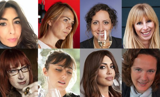 Le wine expert italiane interpellate. In alto, d
