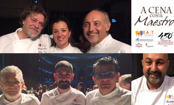 Alcuni degli chef protagonisti de A Cena con il Ma