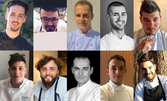 I volti dei dieci finalisti italiani di S.Pellegrino Young Chef 2018. Nella fotogallery all'interno, i dieci piatti con cui si sfideranno lunedì 11 settembre